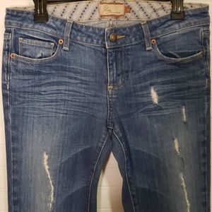PAIGE Laurel Canyon Distressed Flared Jeans